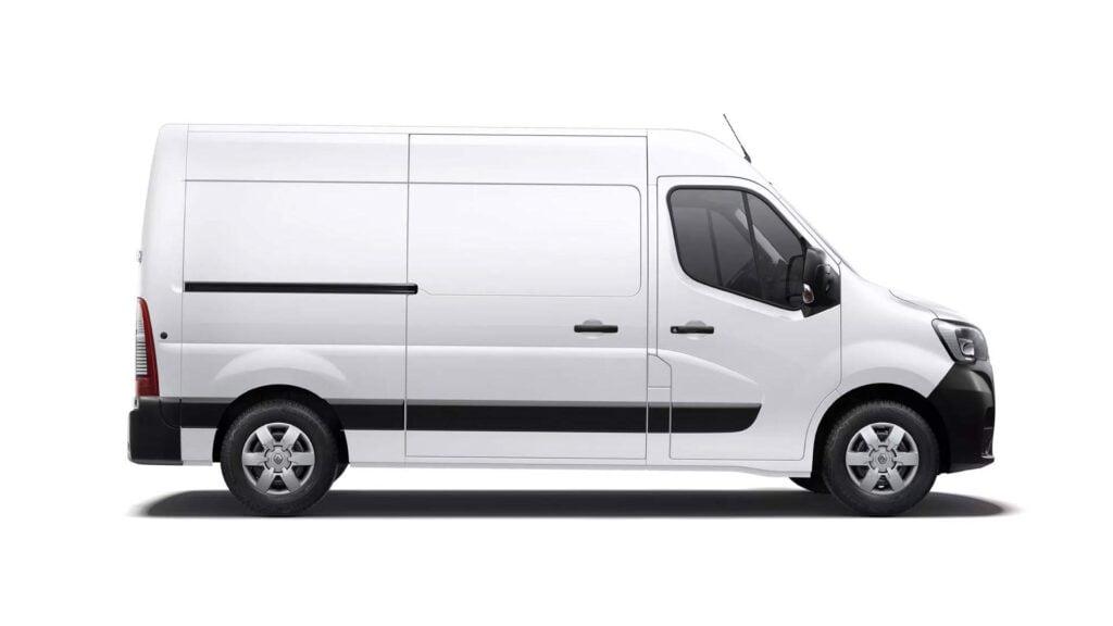 Renault Master E-Tech electric är en stor transportbil med 100% eldrift