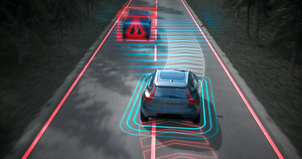 Volvo on coming lane mitigation beskriver säkerhetsfunktionen
