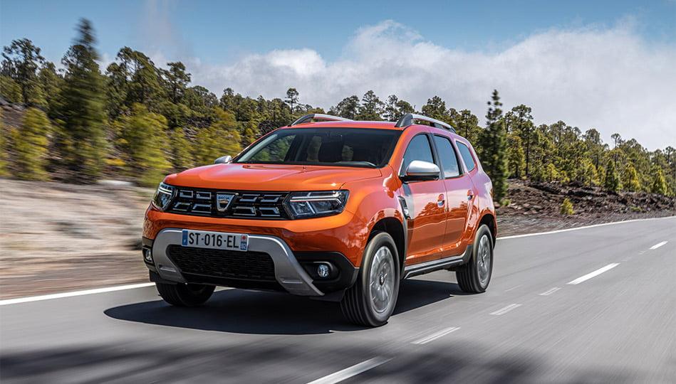 Nya Dacia Duster modellår 2022 framifrån