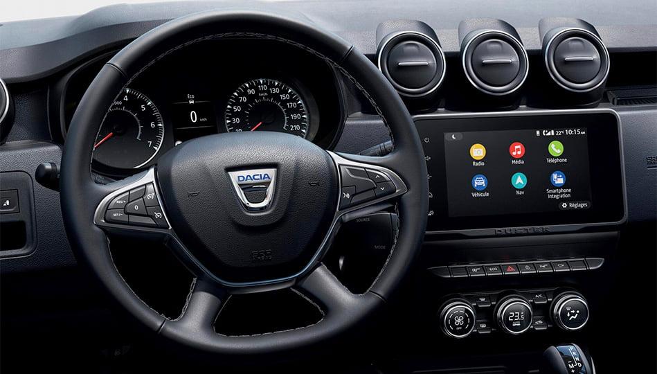 Invändigt får nya Dacia Duster en 8 tums pekskärm